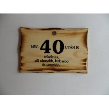 Szülinapos fatábla 40-es