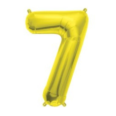 """16"""" arany 7-es számú fóliás lufi"""