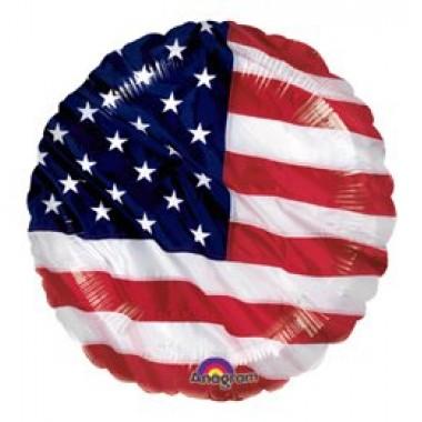 18' fóliás amerikai zászlós lufi