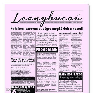 Leánybúcsú újság